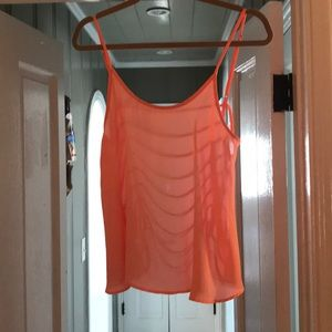 Polyester Bright Orange tank - Backless